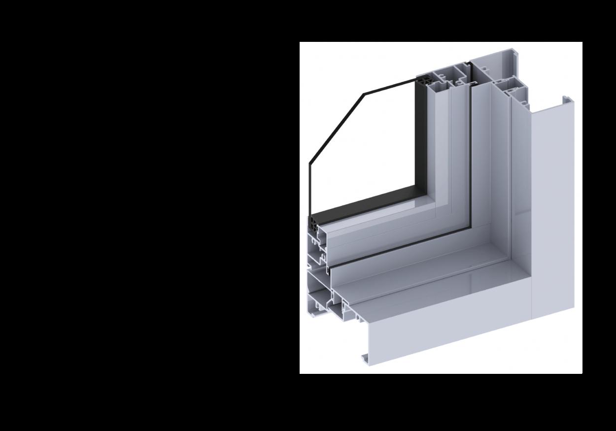 Ascend40 Casement Window section
