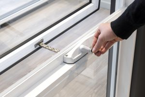 Ascend awning window chainwinder in Pearl White