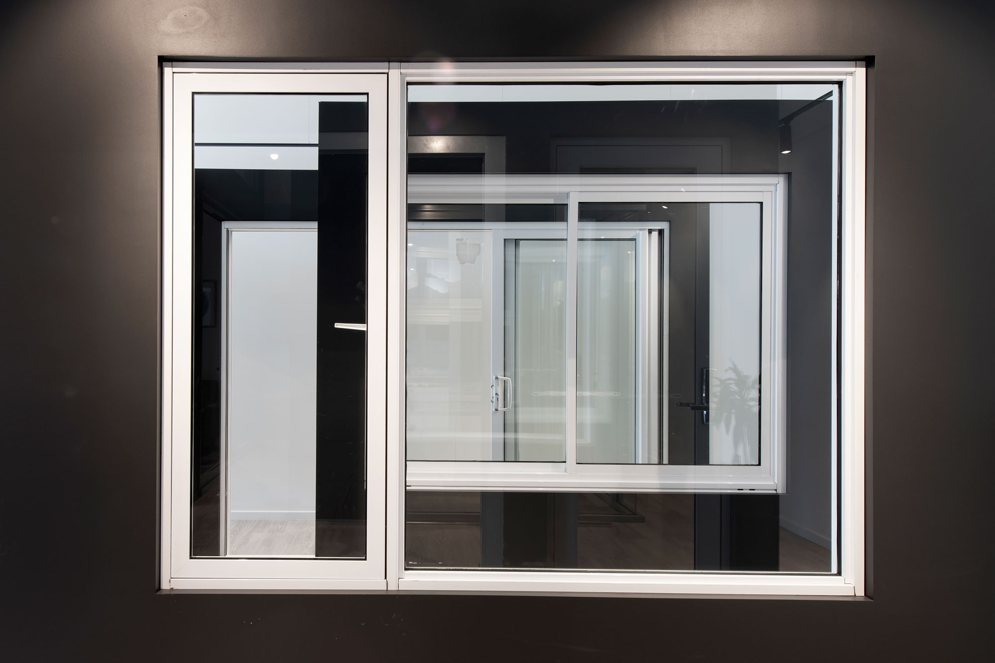Ascend casement window in Pearl White