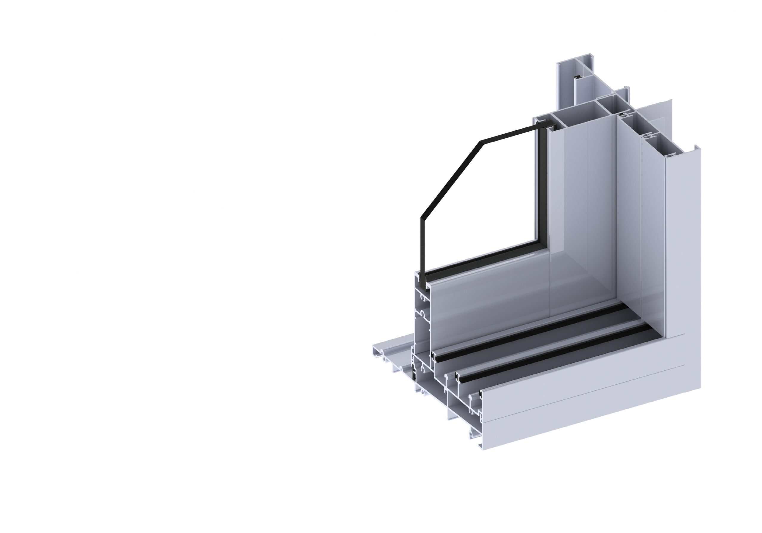 Ascend stacking door section