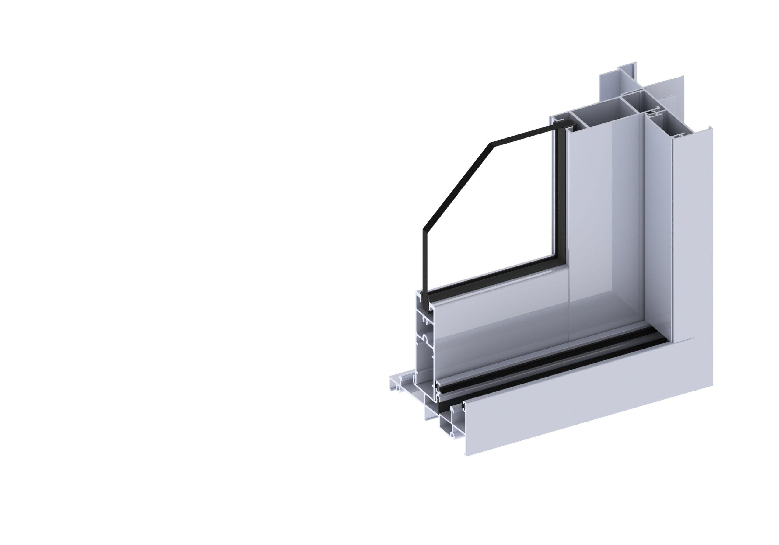 Ascend sliding door section