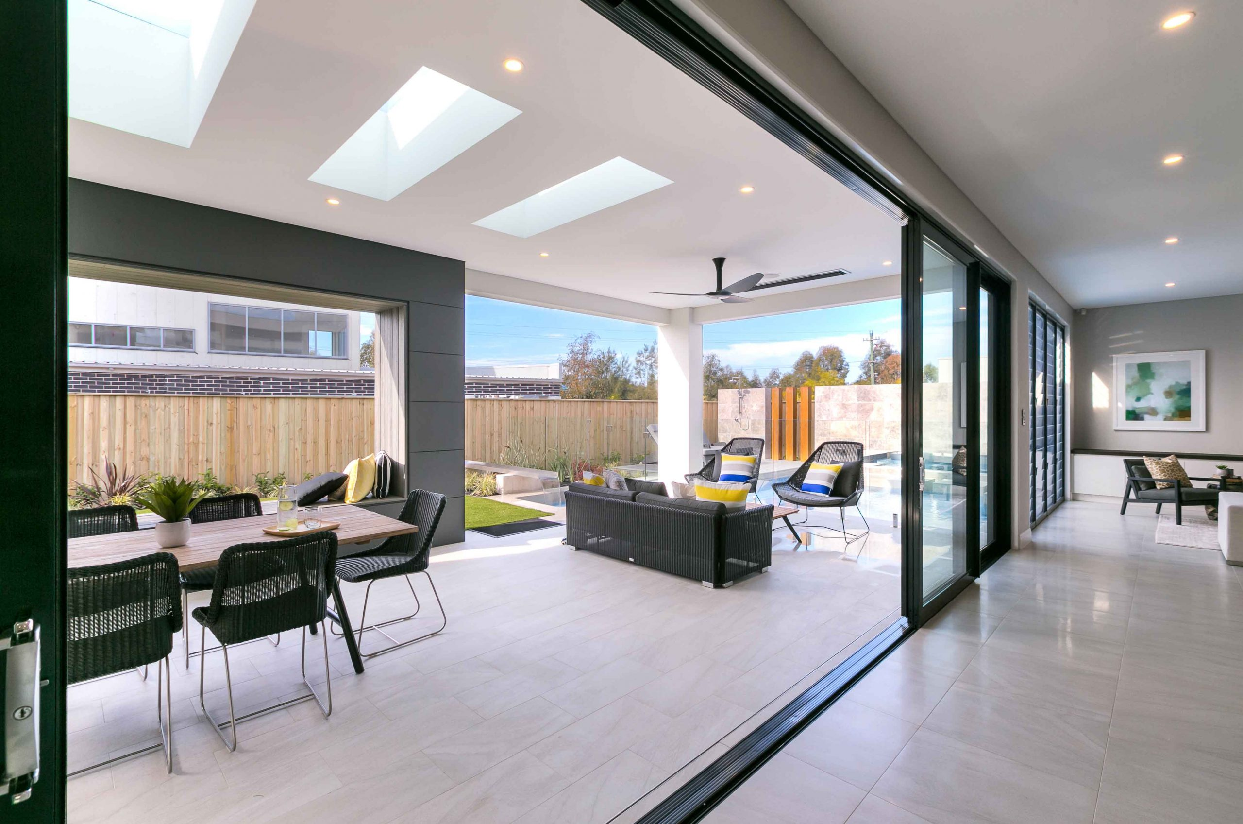 Paragon stacking door and louvre windows