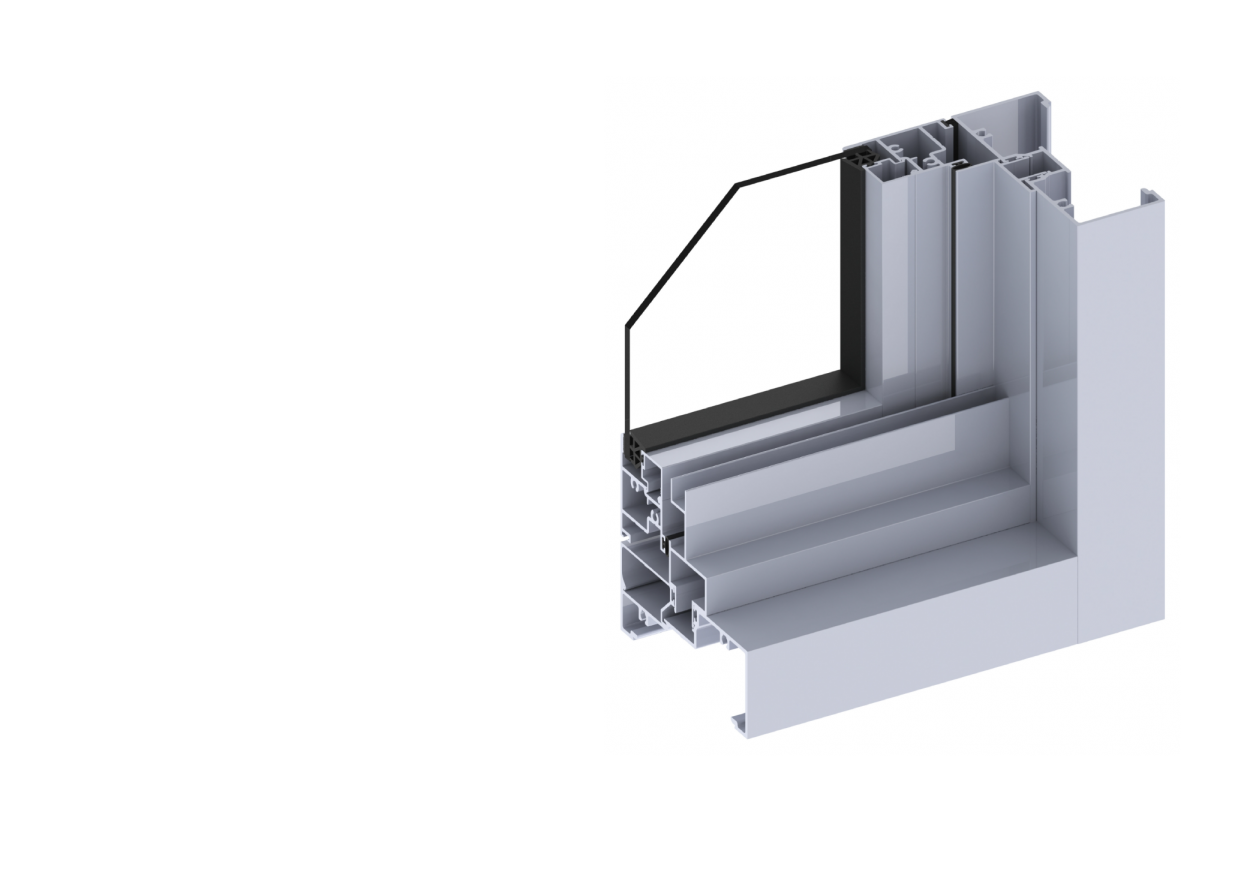 Ascend40 awning window section