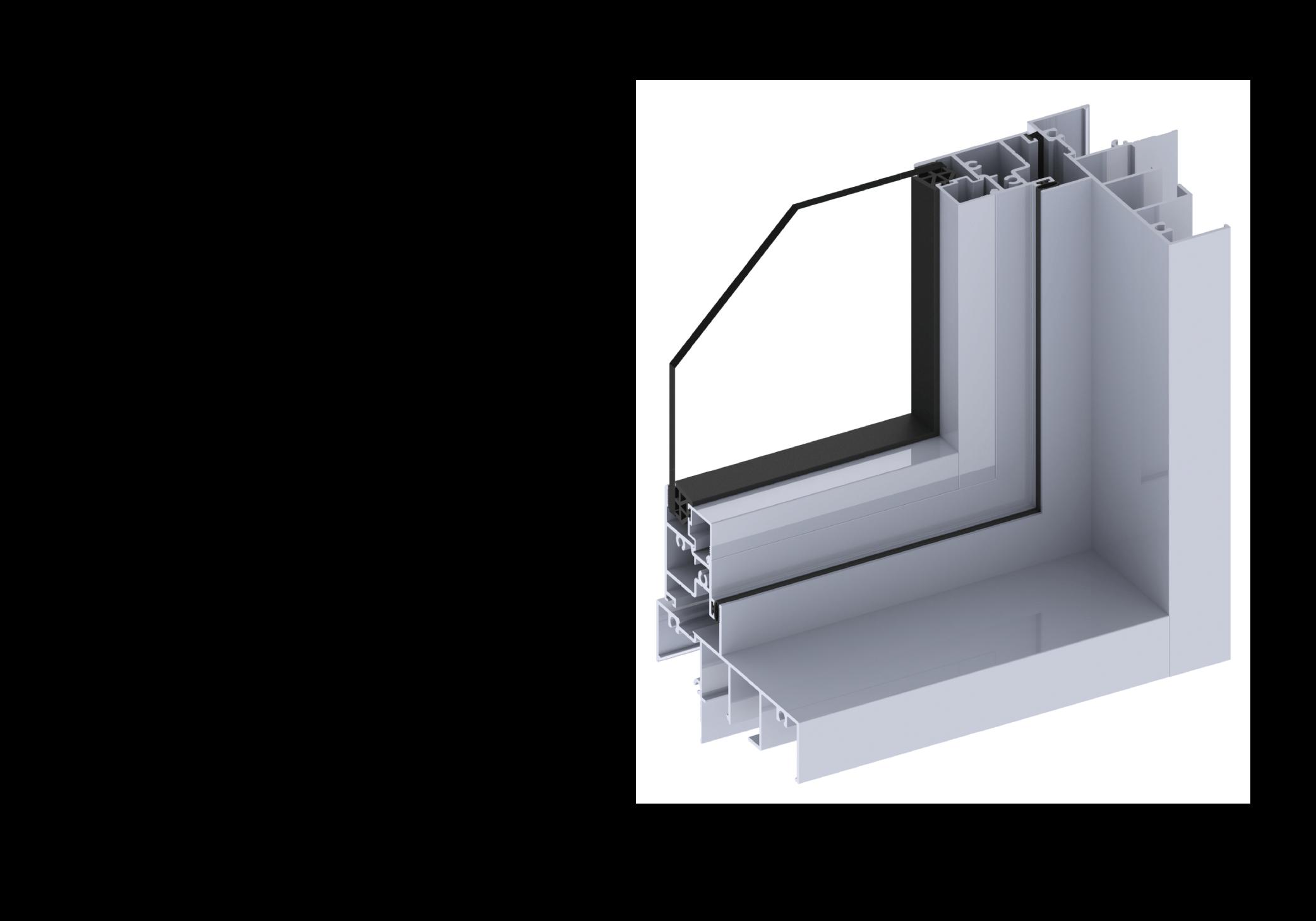 Ascend casement window section