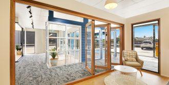 Natura timber bi-fold door