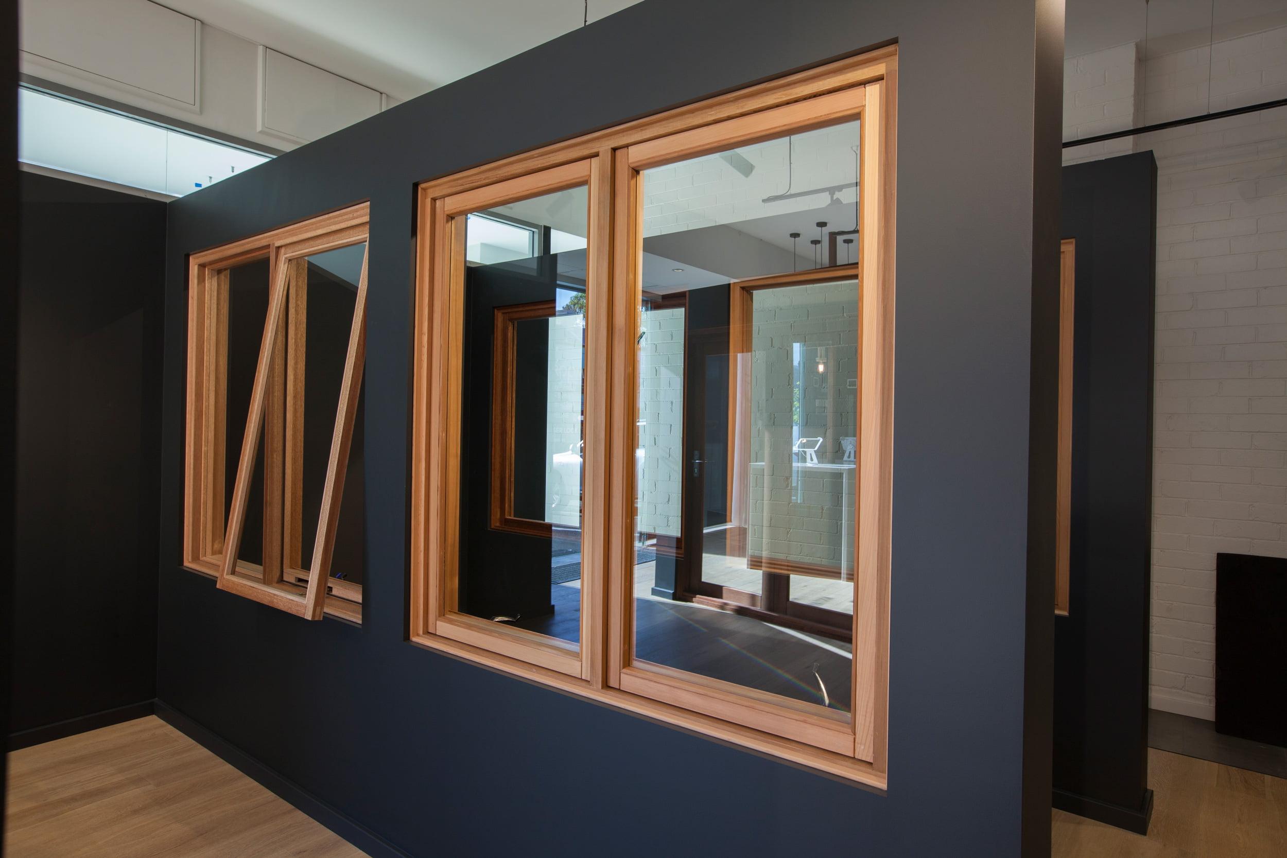 Natura timber awning and casement windows
