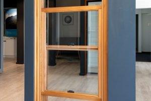 Natura timber double hung window