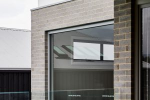Paragon fixed window in Shale Grey