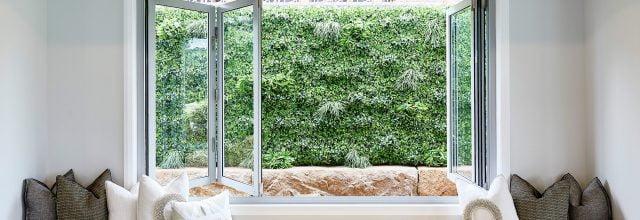 Paragon bi-fold window in Shale Grey Matt