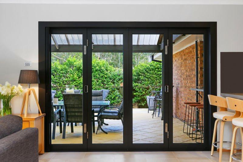 Paragon bi-fold door in Black Matt