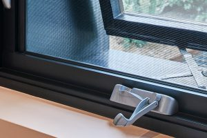Paragon awning window Truth hardware in Precious Silver