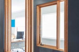 Natura timber awning window