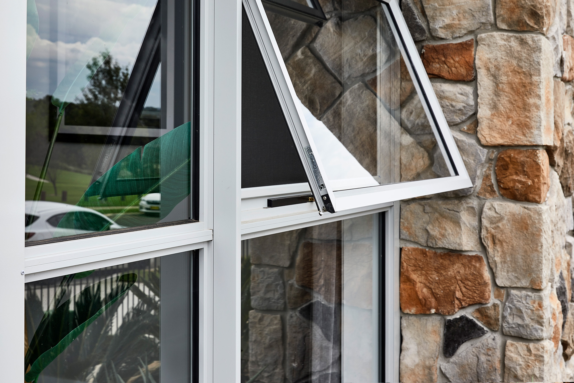 Paragon awning windows in Shale Grey