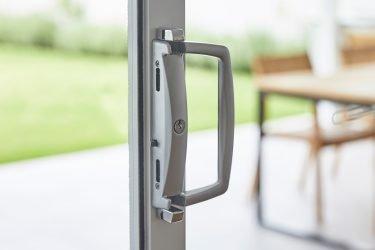Doric 3130 sliding door hardware in Precious Silver