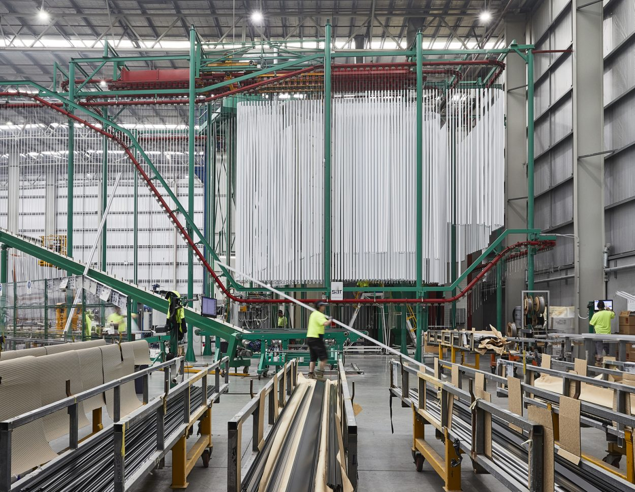 Logan Architectural Finishing powdercoat facility