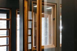 Natura timber sliding window external view