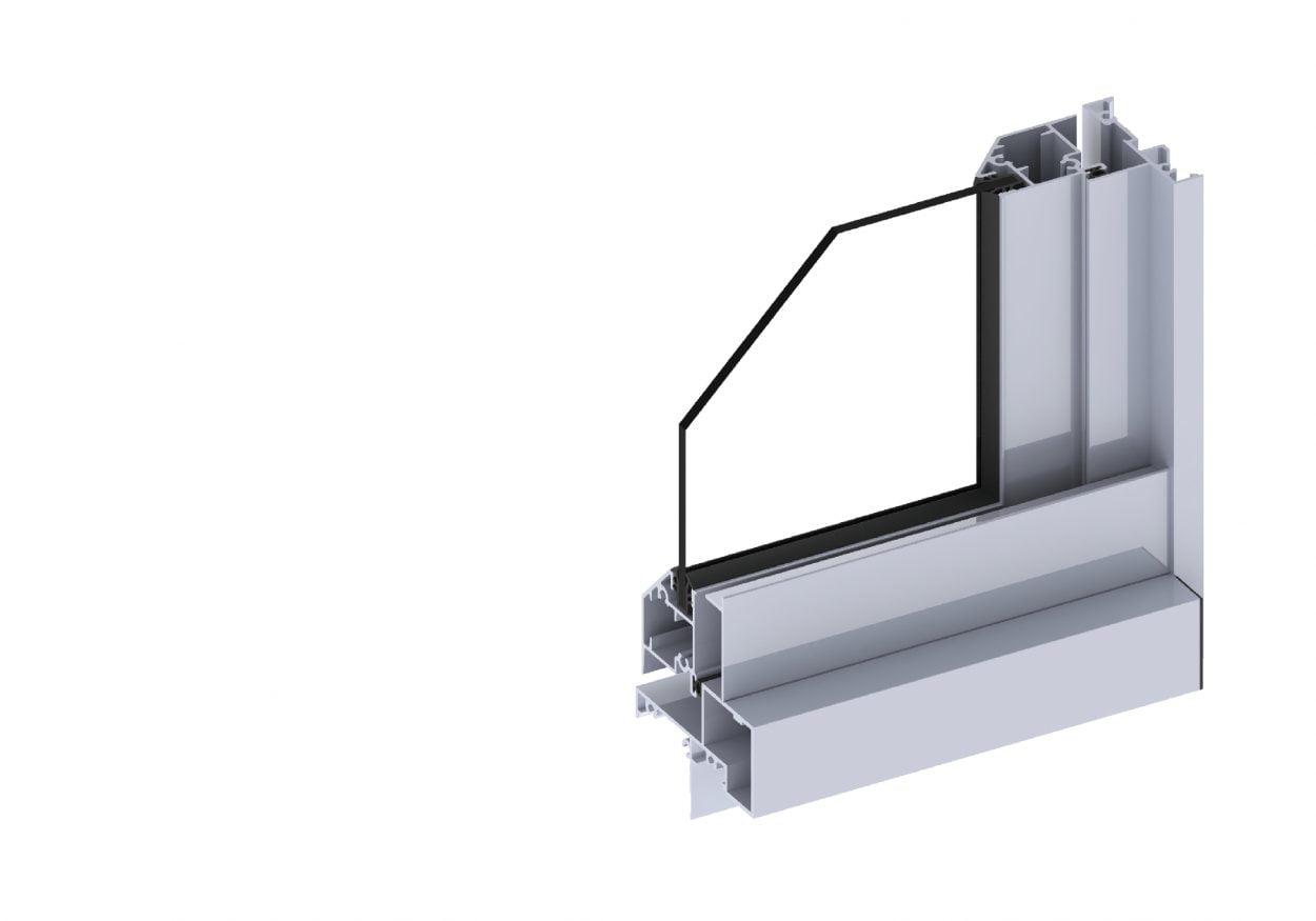 Horizon awning window section