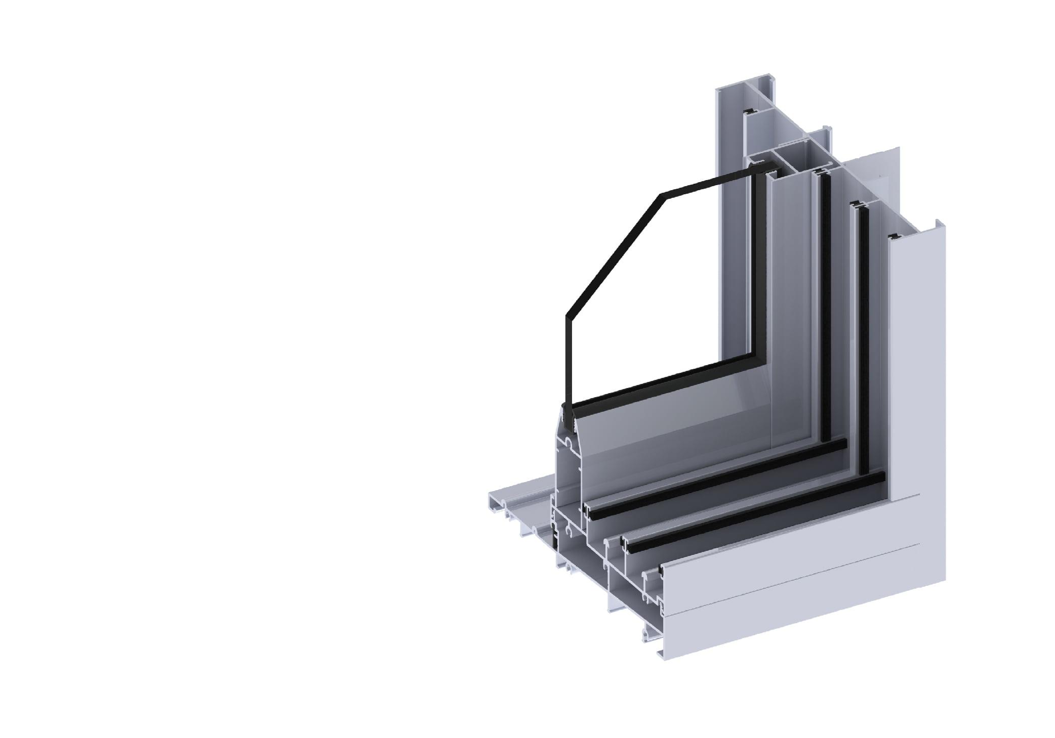 Horizon stacking door section