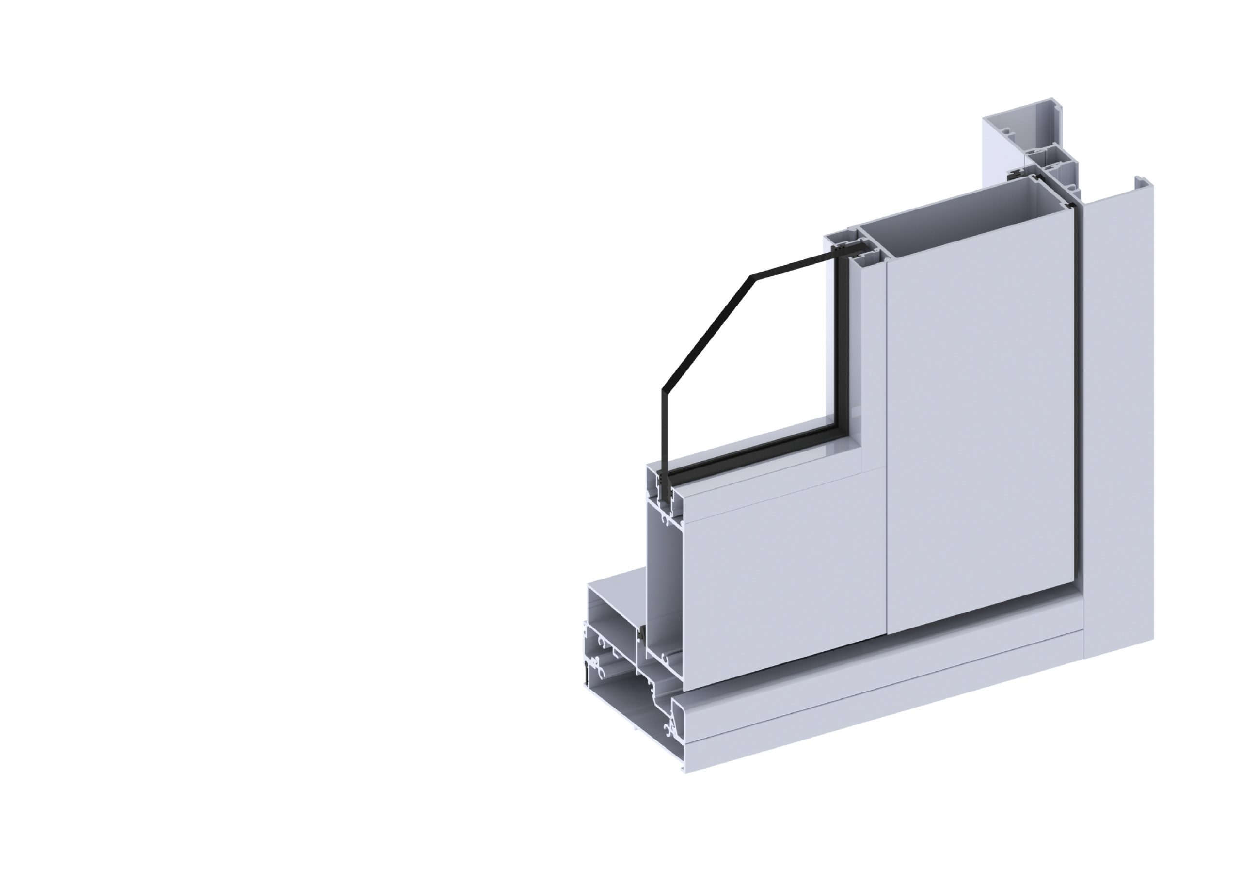 Paragon hinged door section