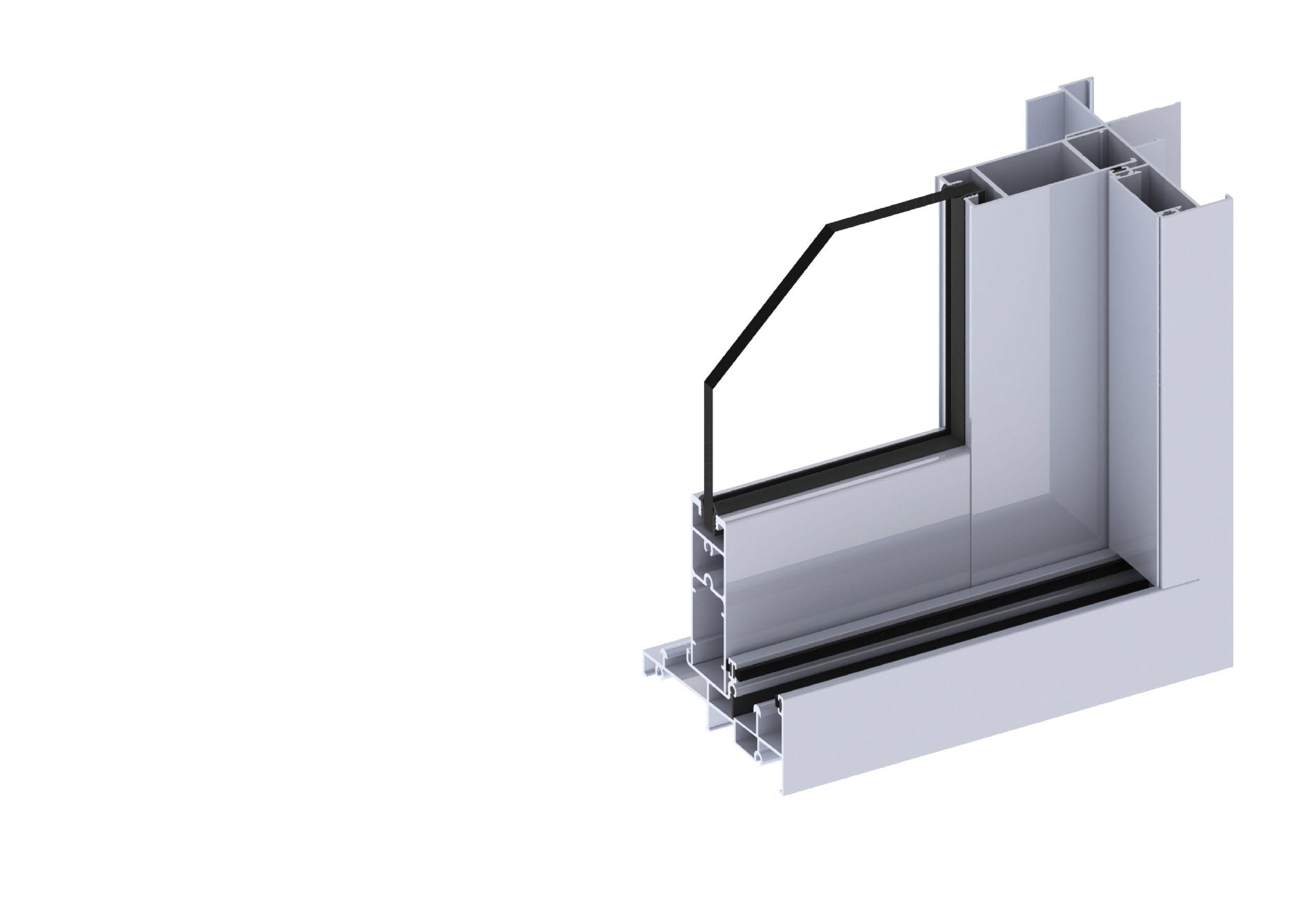 Paragon sliding door section