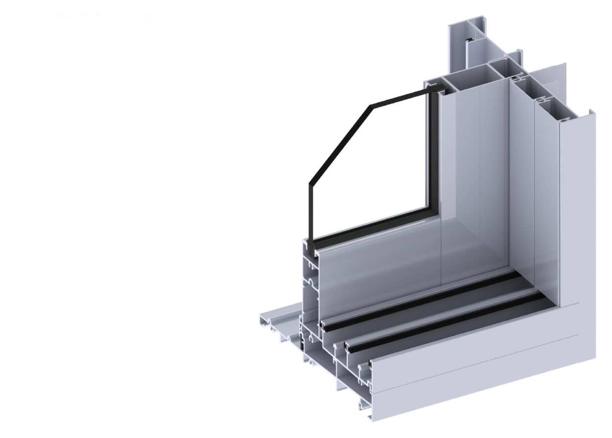 Paragon stacking door section