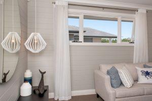 Natura timber awning windows painted white