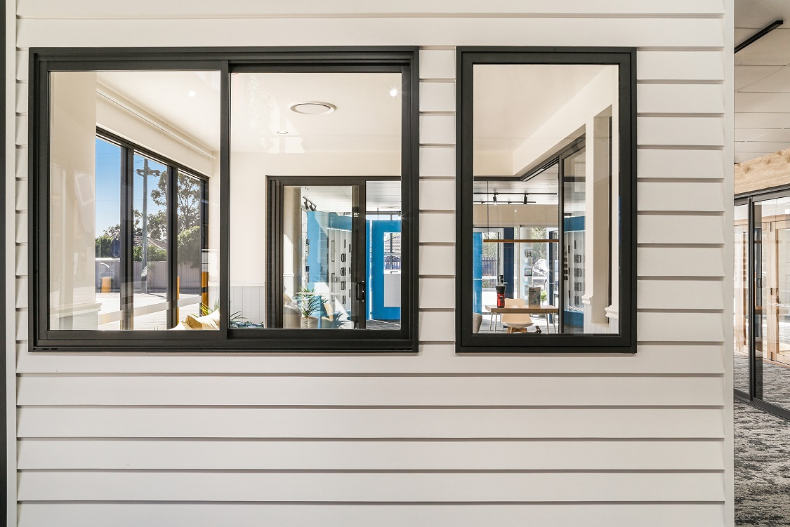 Ascend sliding window and awning window in Textura Monument