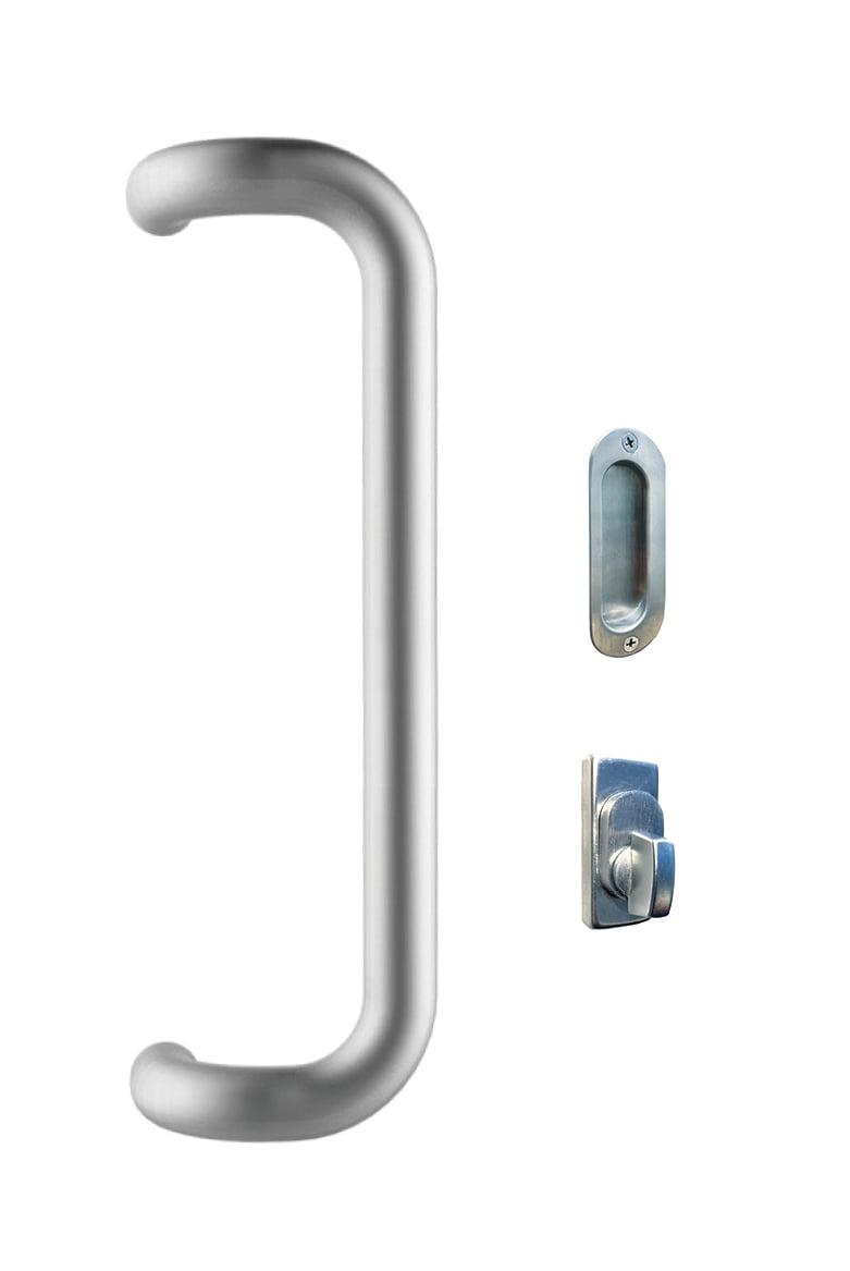 Round Designer Handle 600mm, Snib & Flush Pull