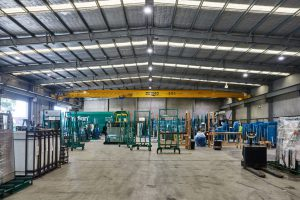 Wideline glass factory Australian manufacturing